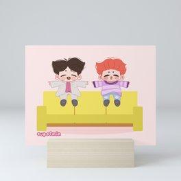 BTS Jikook (Jimin Jungkook) Boy With Luv Illustration Mini Art Print