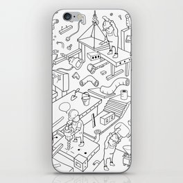 Working People Cover Pattern iPhone Skin
