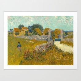Vincent van Gogh - Farmhouse in Provence Art Print