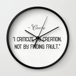 Cicero quote 1 Wall Clock