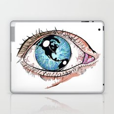 Then One Day, The World Was In Her Eye Laptop & iPad Skin