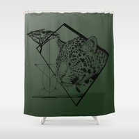 jaguar Shower Curtains featuring Panthera Onca by Fox Richards