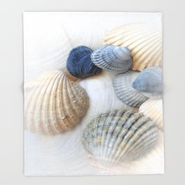 Just Sea Shells Throw Blanket