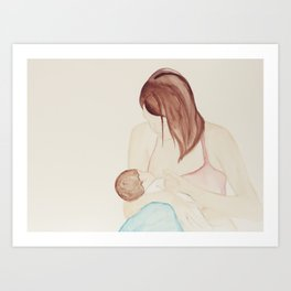 Womanly Art of Breastfeeding  Art Print