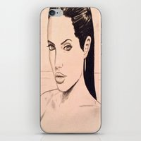 angelina jolie iPhone & iPod Skins featuring angelina jolie by Justinhotshotz