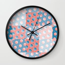 Circles and Triangles Grid Pattern Wall Clock