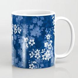 Sakura blossom in deep blue Coffee Mug
