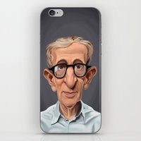 celebrity iPhone & iPod Skins featuring Celebrity Sunday ~ Woody Allen by rob art | illustration