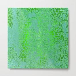Iridescent Green Snakeskin Metal Print