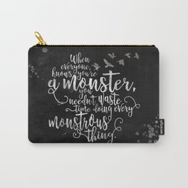 Six of Crows - Monster - Black Carry-All Pouch