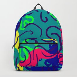 Whimsical, fanciful, dancing colors Backpack
