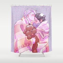 Viktuuri winter hug Shower Curtain