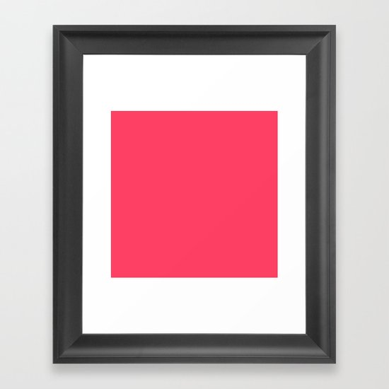 Pinky Red Framed Art Print