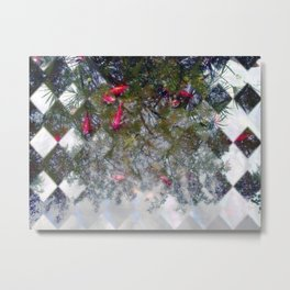 Reflections about intermingled/interspersed molecules, organisms. Metal Print