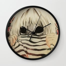 peeping cat Wall Clock