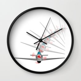 Old Fighter Plane Wall Clock