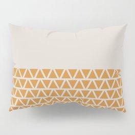 Triangles half Pattern (Ochre, Cream) Pillow Sham