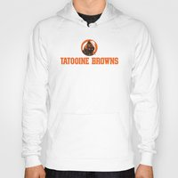nfl Hoodies featuring Tattooine Browns - NFL by Steven Klock