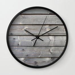 old wooden planks background Wall Clock