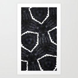 fractal hexagon Art Print