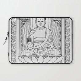 Buddha Black & White Laptop Sleeve