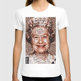 BEHIND THE FACE Queen Elizabeth   drunk and pregnant girls T-shirt