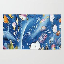 snoopy aquarium Rug