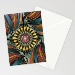 Peeping in, artistic floral design Stationery Cards