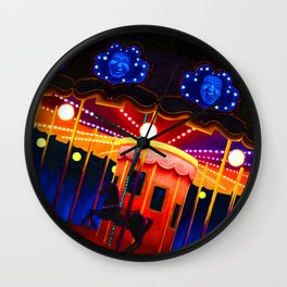Carousel , Oil Painting Wall Clock