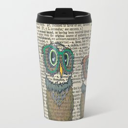 Owl wearing glasses Travel Mug