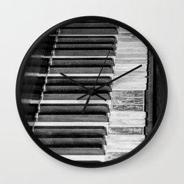 Black & White Piano Wall Clock