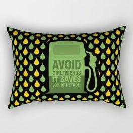 Avoid Girlfriends... Save Petrol (Funny Concept) Rectangular Pillow