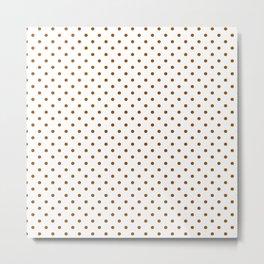 Dots (Brown/White) Metal Print
