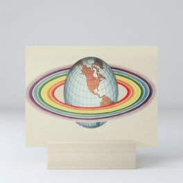 Psycho-harmonial philosophy - Peter Pearson - 1910  Rainbow Saturn Rings Around Earth Mini Art Print