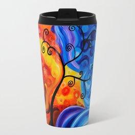 Abstract Blue/Orange Travel Mug