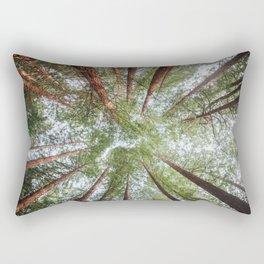 Looking Up - Redwood forest Rectangular Pillow