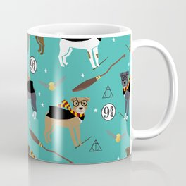Pitbull witch wizard magic dog breed gifts Coffee Mug