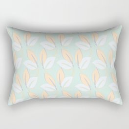 Classic leaves in green Rectangular Pillow