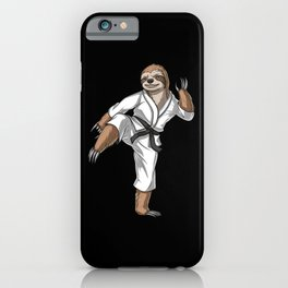 Sloth Karate Fighter iPhone Case