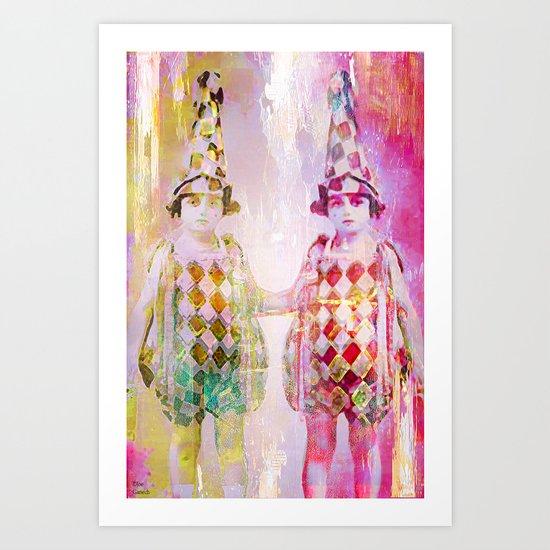 The acrobats Art Print