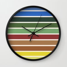 The colors of - Castle in the sky Wall Clock