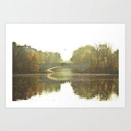 Herbst im Kanal, Berlin Art Print