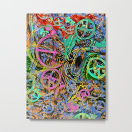 Welcome To The Machine Green ArtisticDerived from the interior of a WWI German submarine. Cool, righ Metal Print