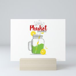 Phuket: Summer, sun, sea & smoothies Mini Art Print
