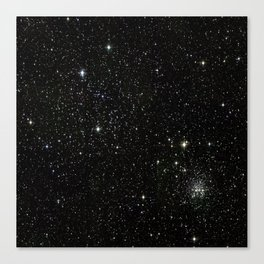Universe Space Stars Planets Galaxy Black and White Canvas Print