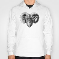 ram Hoodies featuring Ram Head by BIOWORKZ