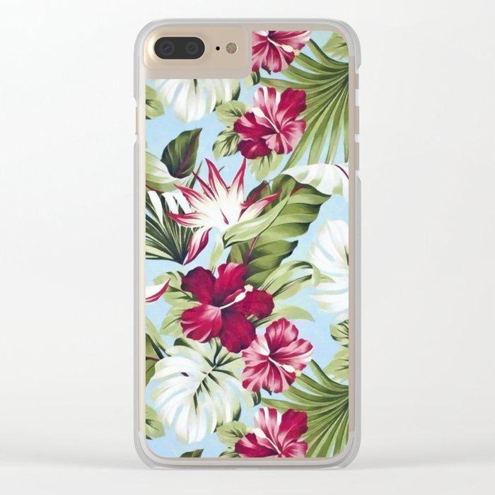 Tropical garden II Clear iPhone Case