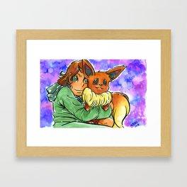 Kenzie and Eevee Framed Art Print