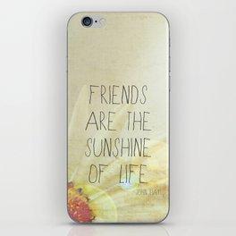 Sunshine & Friendship iPhone Skin