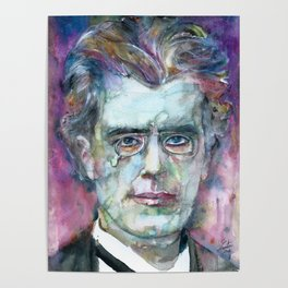 GUSTAV MAHLER - watercolor portrait.4 Poster